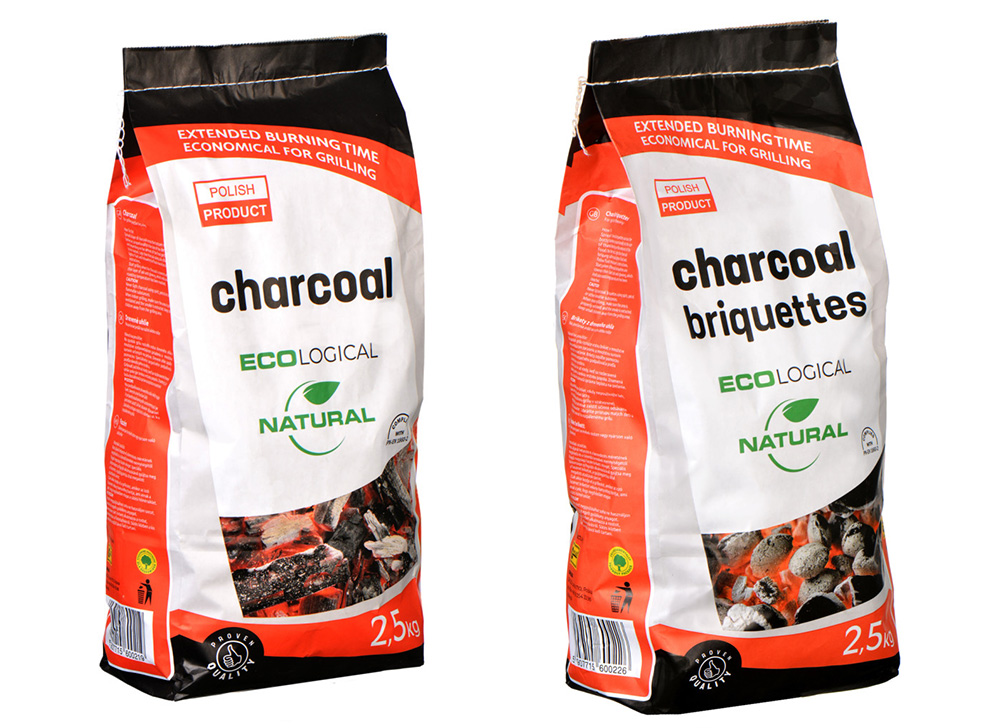 Charcoal and Briquettes ecological natural